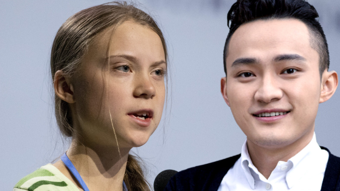 Greta Thunberg Justin Sun