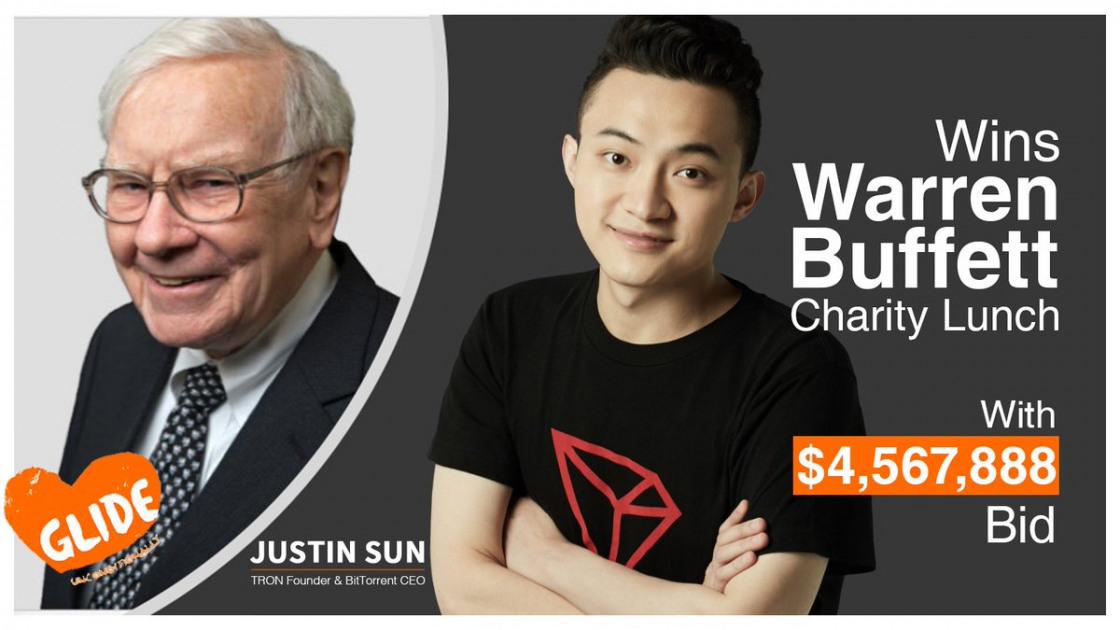 TRON's Justin Sun will meet investor Warren Buffet