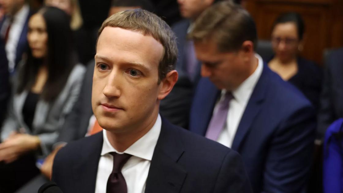 Zuckerberg during hearings over Libra